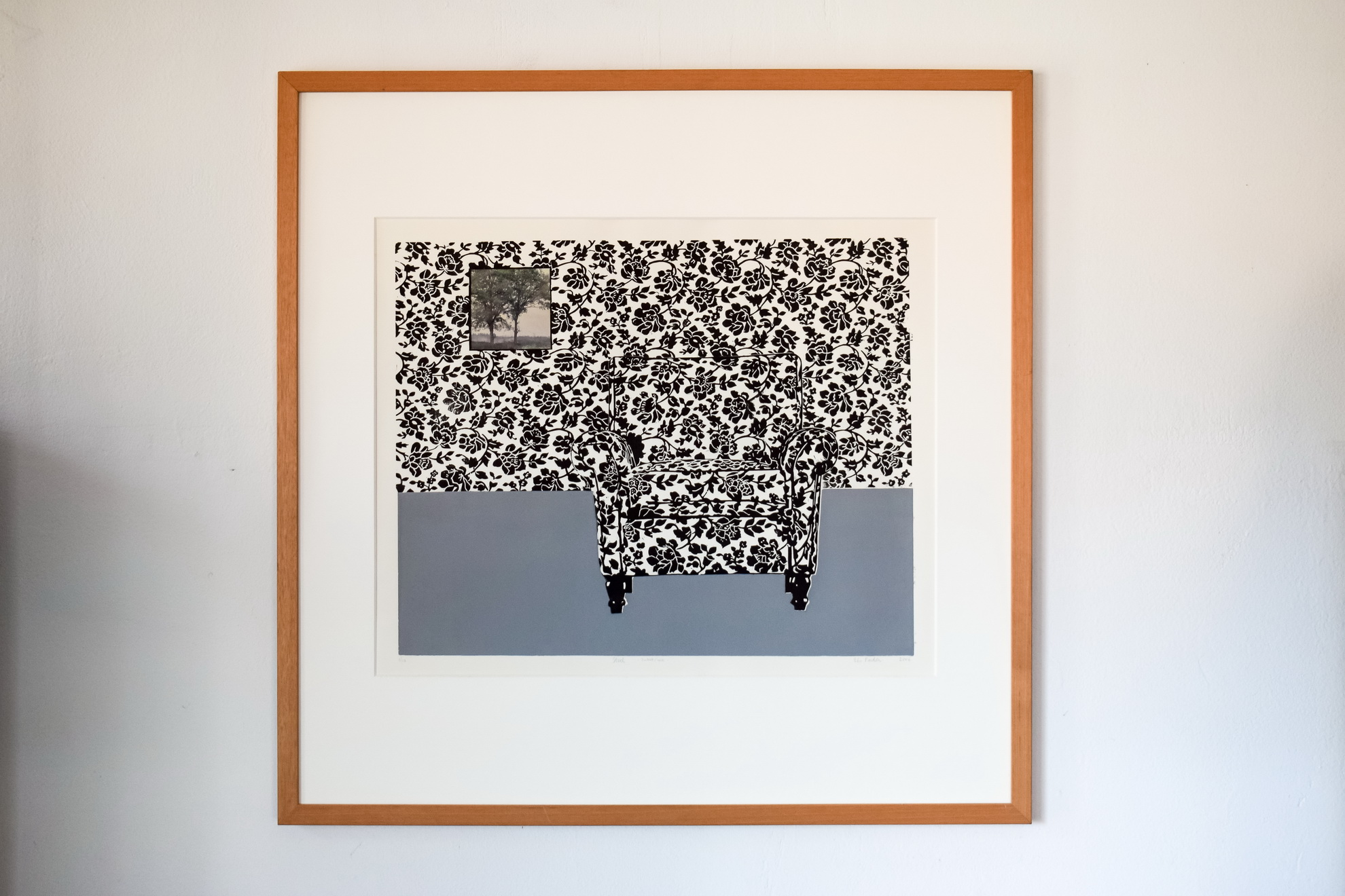 stoel(grijs met bomen)-elspardon-50x40-2006